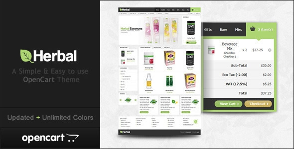 Herbal OpenCart Theme